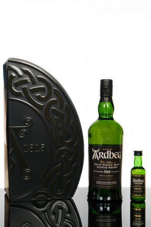 Ardbeg Ten Islay Single Malt Scotch Whisky Gift Pack (700ml)