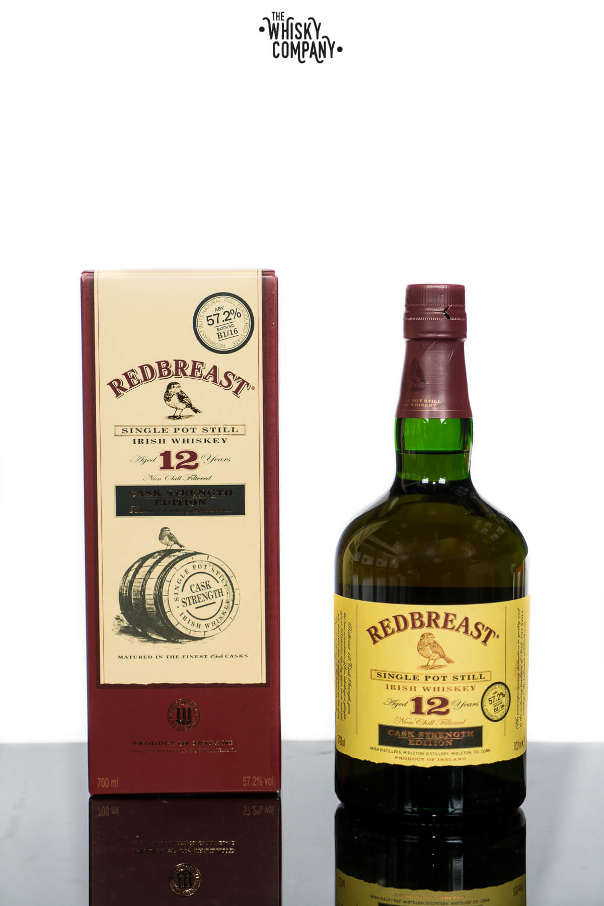 Redbreast Aged 12 Years Cask Strength Edition Irish Single Pot Still Whiskey (700ml)