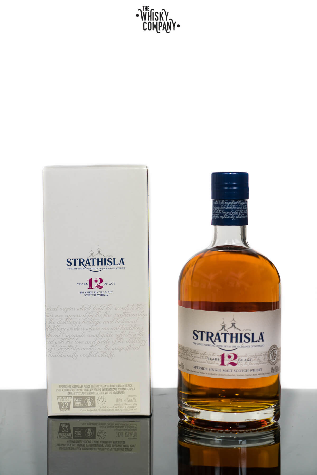 Strathisla Aged 12 Years Speyside Single Malt Scotch Whisky (700ml)