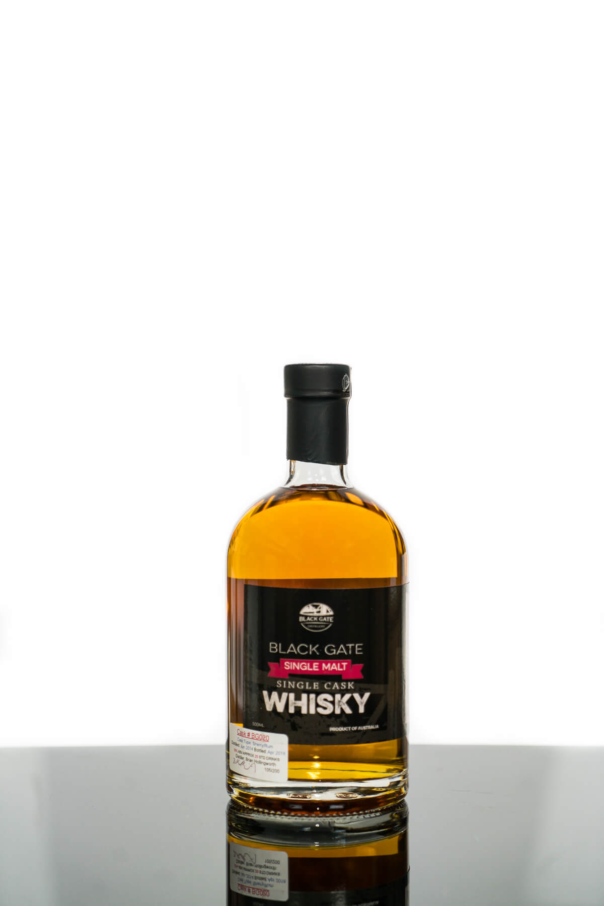 Black Gate Single Cask #BG020 Single Malt Australian Single Malt Whisky (500ml)