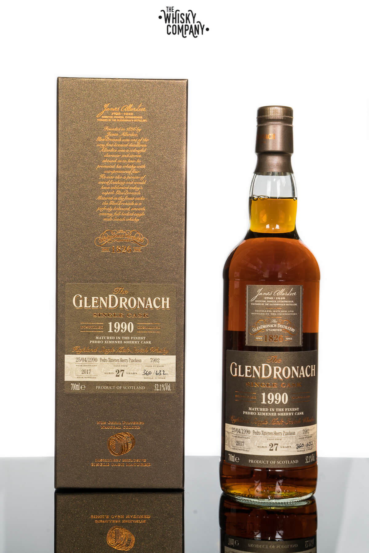 GlenDronach 27 Years Old 1990 Single Cask No. 7902 (700ml)