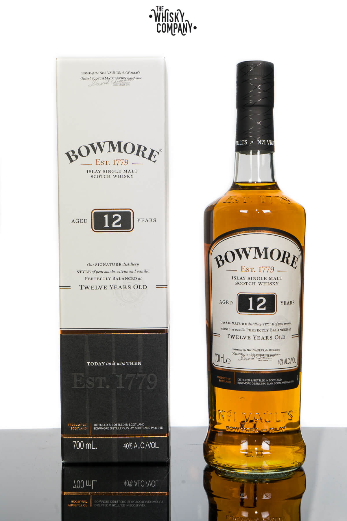 Bowmore Aged 12 Years Islay Single Malt Scotch Whisky (700ml)