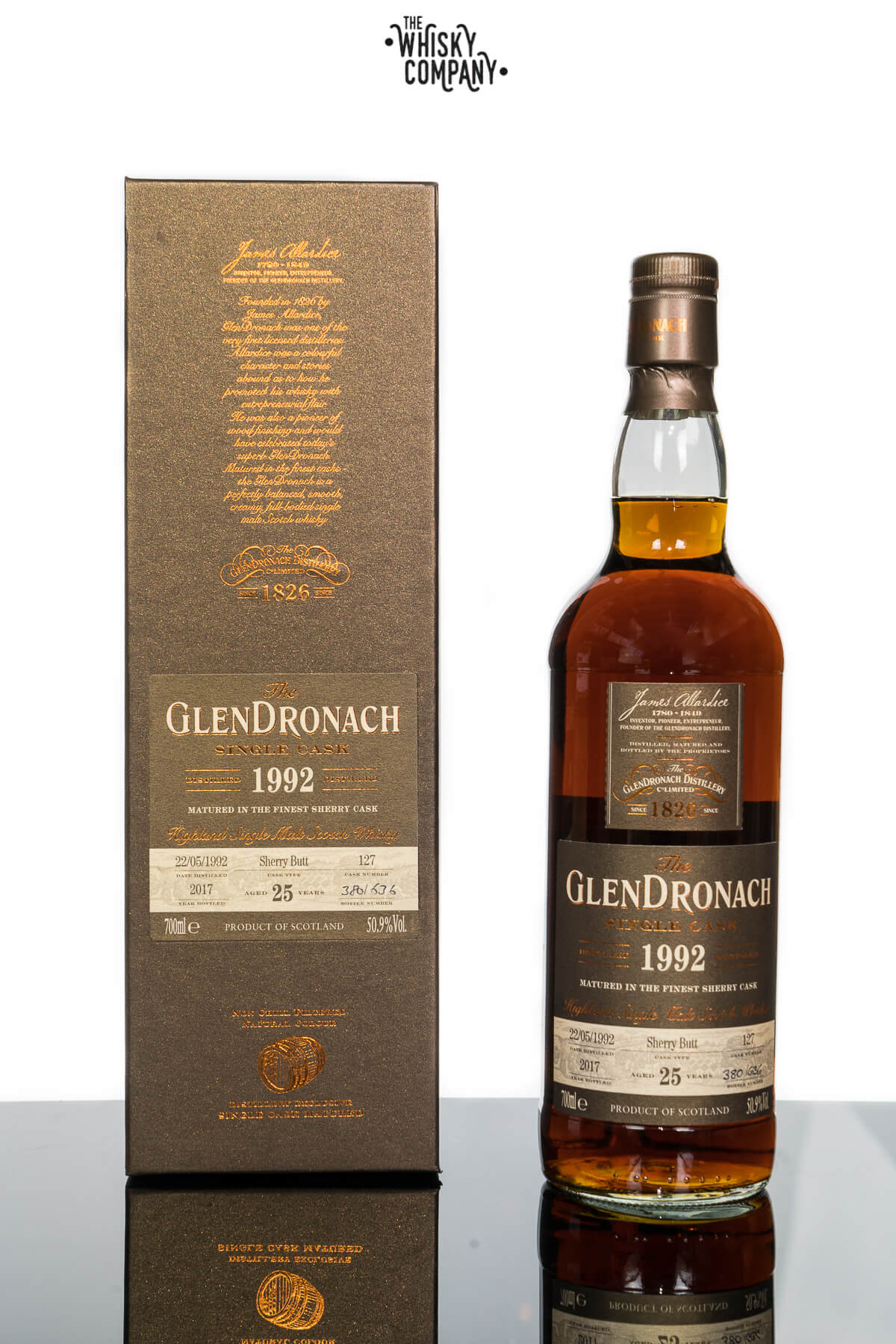 GlenDronach 25 Years Old 1992 Single Cask No. 127 (700ml)