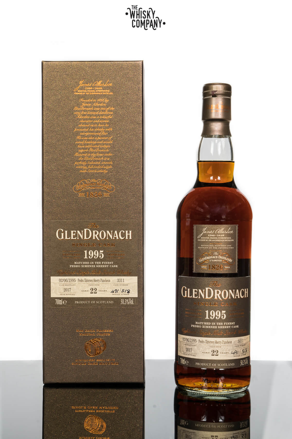 GlenDronach 22 Years Old 1995 Single Cask No. 3311 Batch 16 Single Malt Scotch Whisky (700ml)
