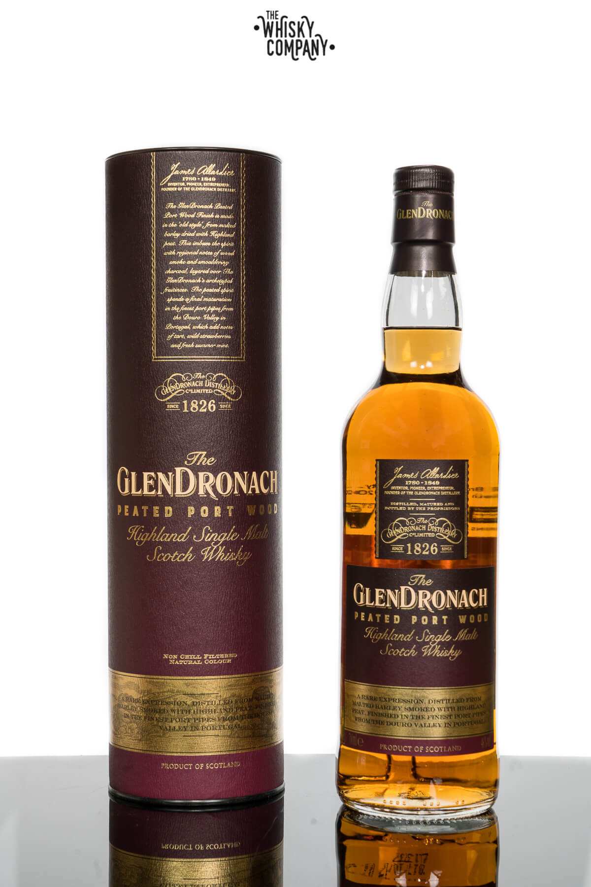 GlenDronach Peated Port Wood Highland Single Malt Scotch Whisky (700ml)