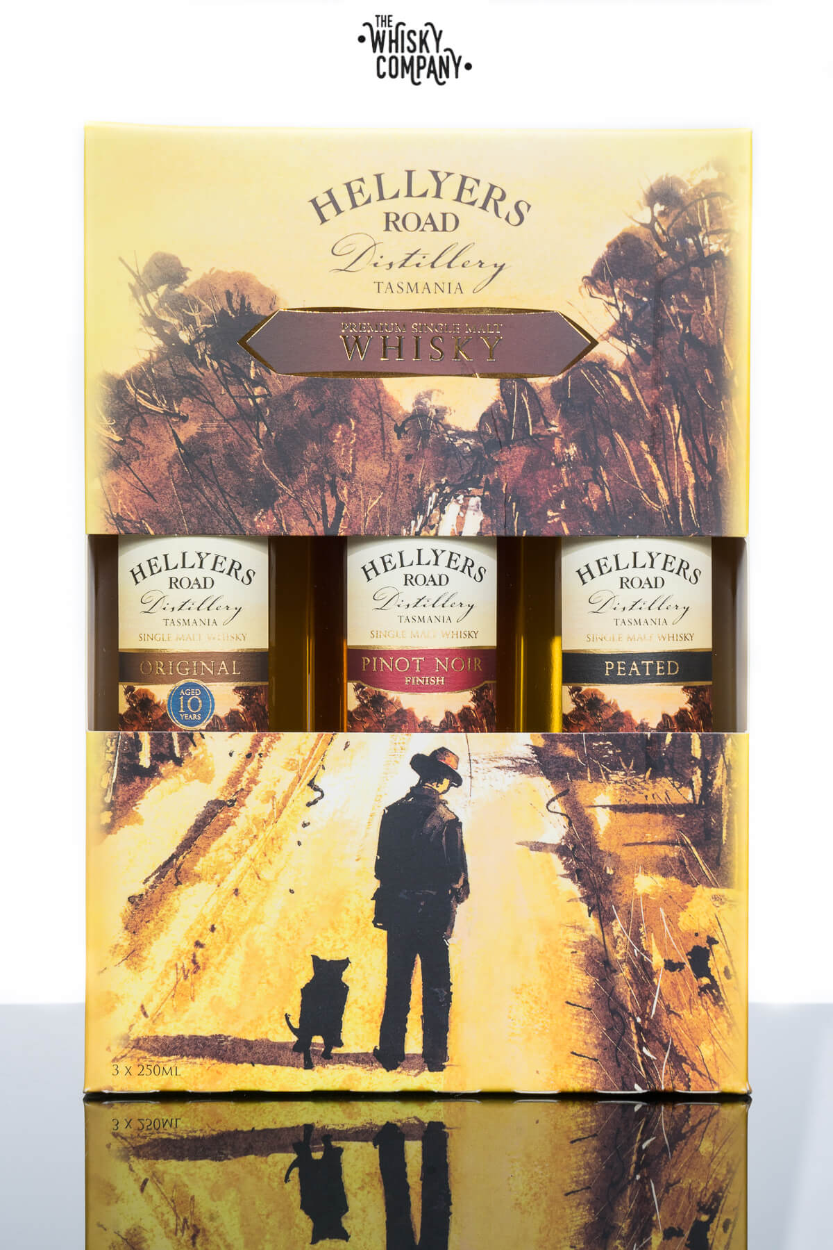 Hellyers Road Whisky Trio Gift Pack (3 x 250ml)