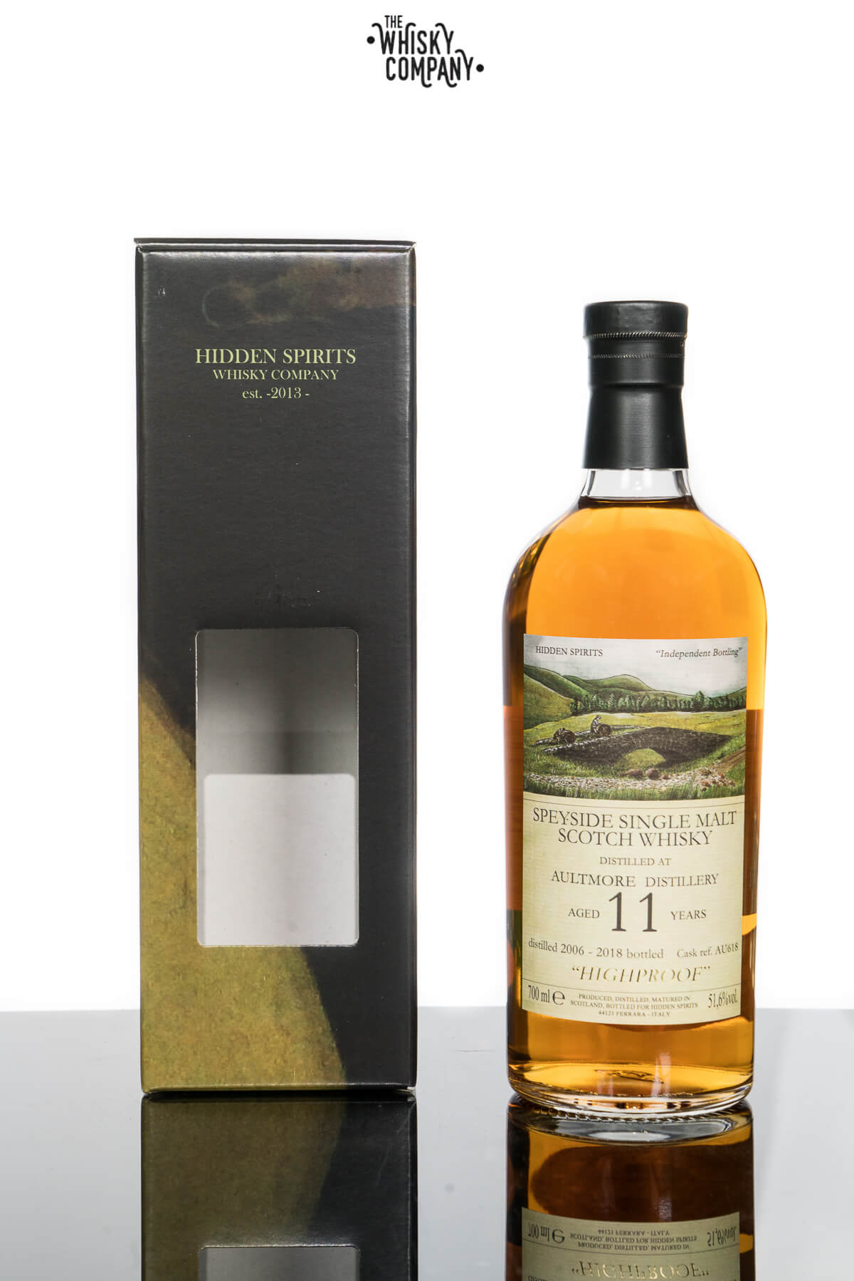 Hidden Spirits Aultmore 11 Years Old Speyside Single Malt Scotch Whisky (700ml)