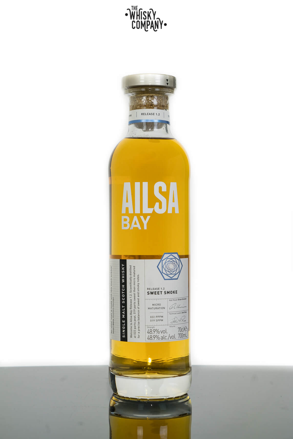 Ailsa Bay Release 1.2 Sweet Smoke Single Malt  Scotch Whisky (700ml)