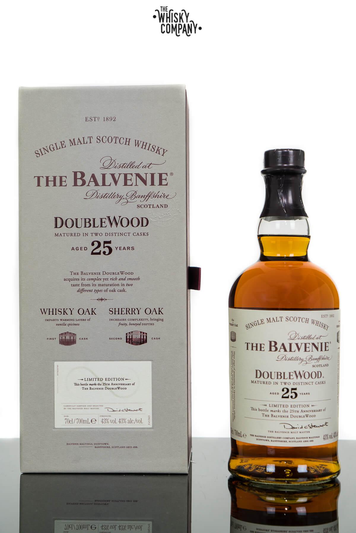 The Balvenie Aged 25 Years DoubleWood Speyside Single Malt Scotch Whisky (700ml)