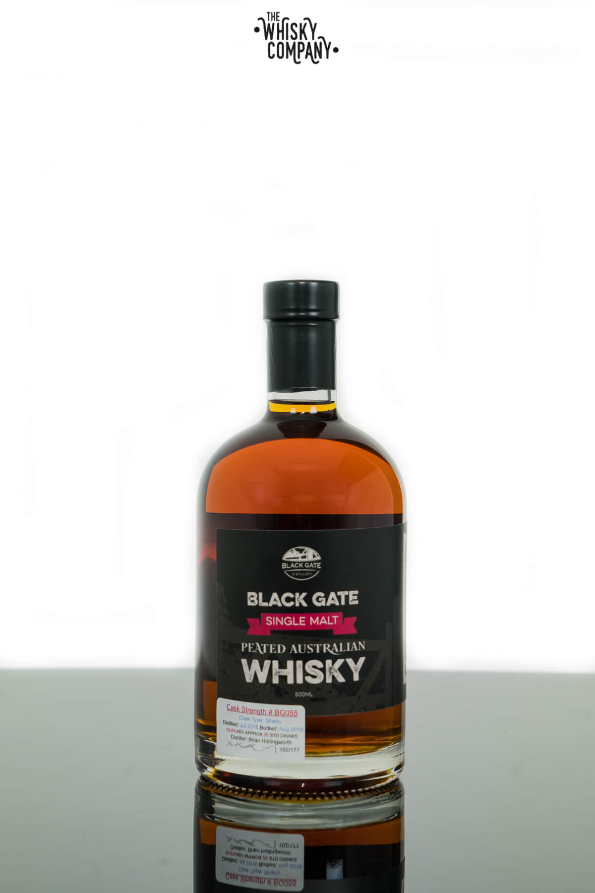 Black Gate Peated Cask No. BG055 Australian Single Malt Whisky (500ml)