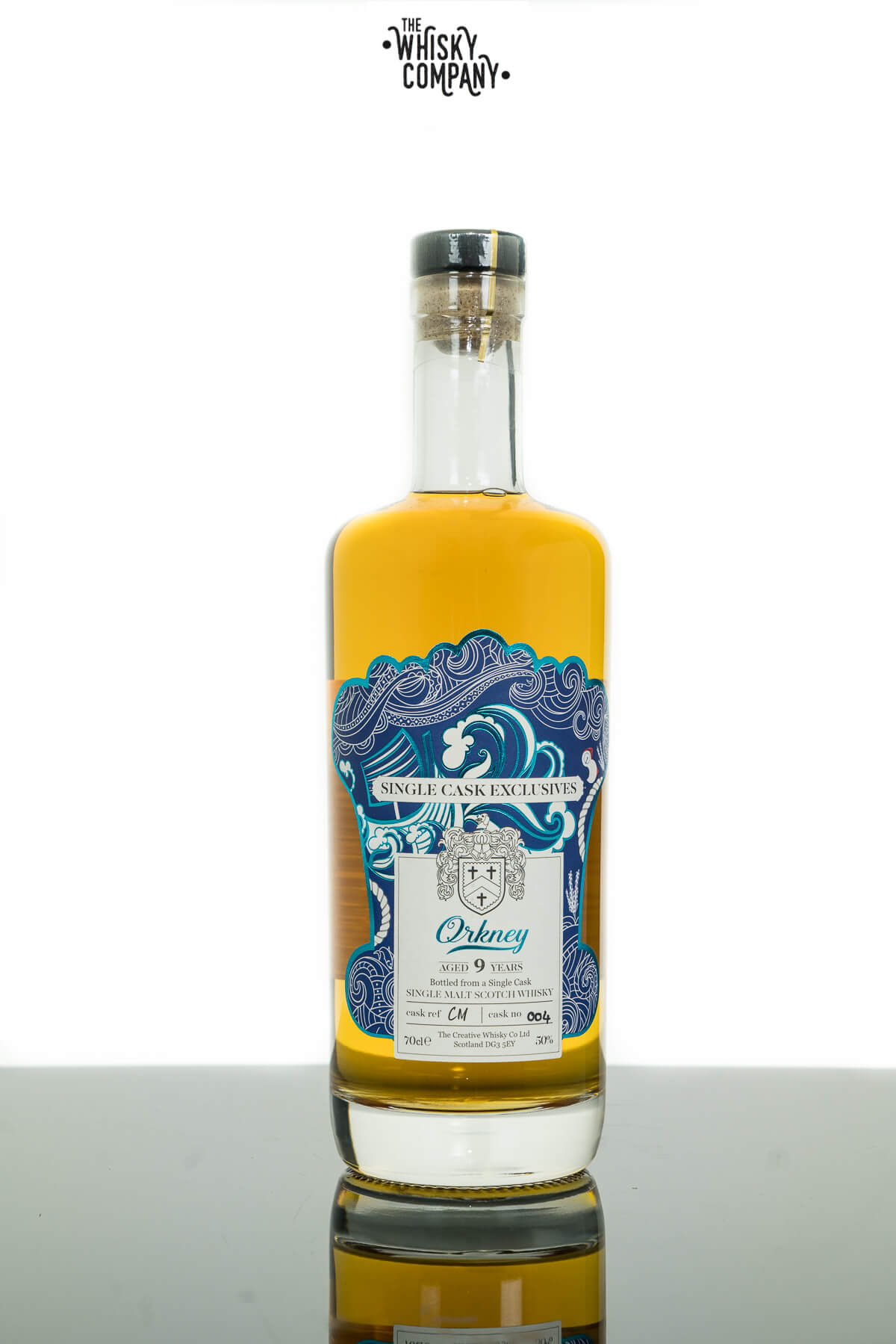 Creative Whisky Co. Orkney Aged 9 Years Cask No. 004 Single Malt Scotch Whisky (700ml)