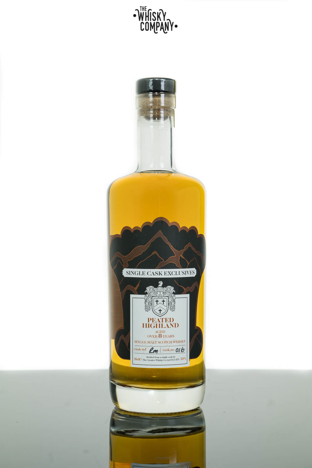 Creative Whisky Co. Peated Highland Aged 8 Years Cask No. 016 Single Malt Scotch Whisky (700ml)