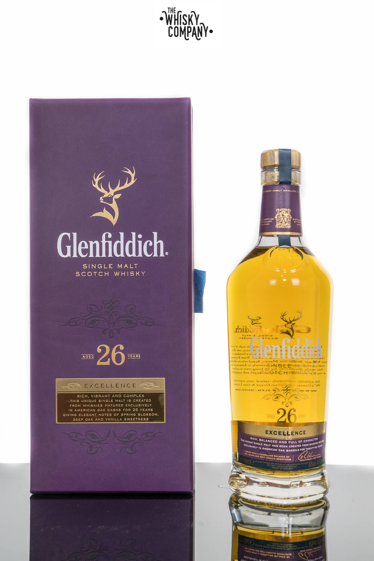 Glenfiddich Excellence 26 Years Old Single Malt Scotch Whisky (700ml)