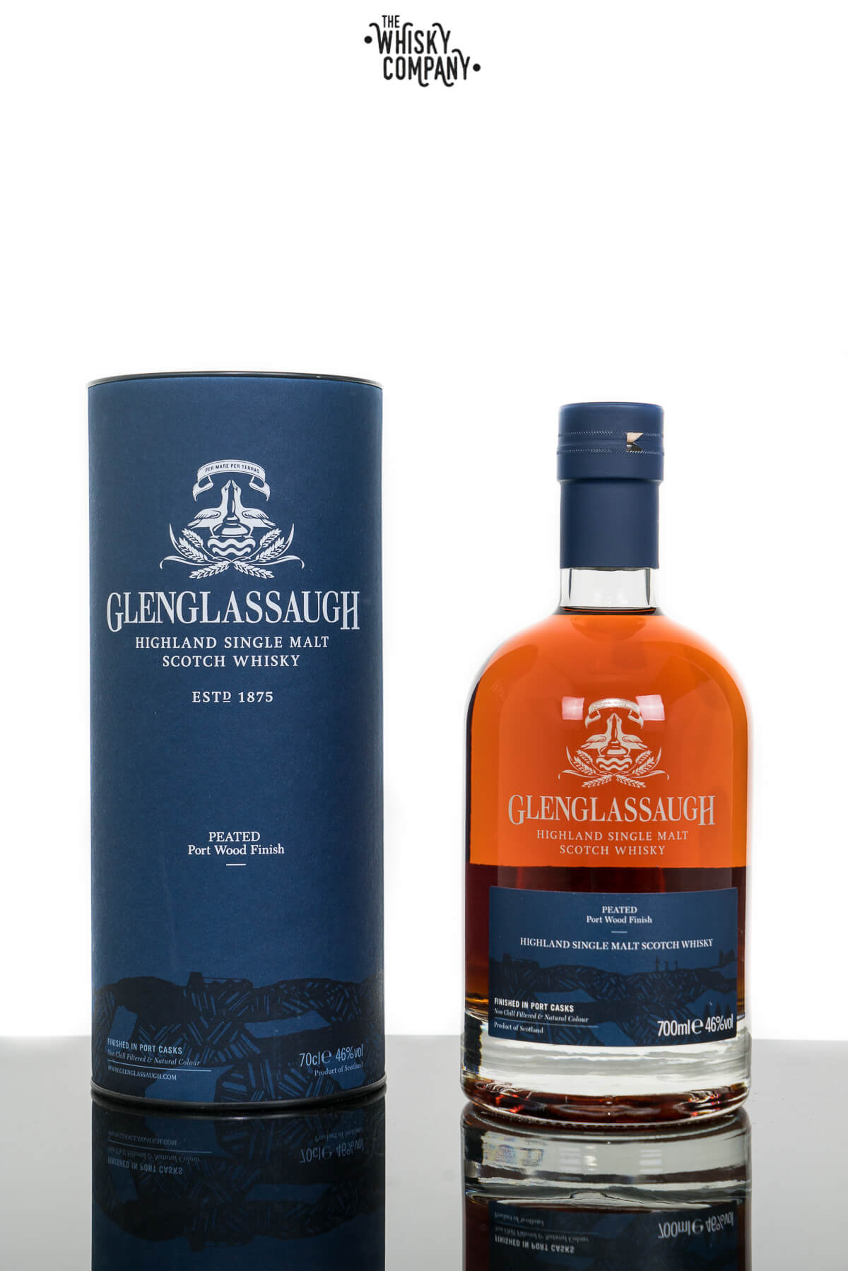 Glenglassaugh Peated Portwood Finish Highland Single Malt Scotch Whisky (700ml)