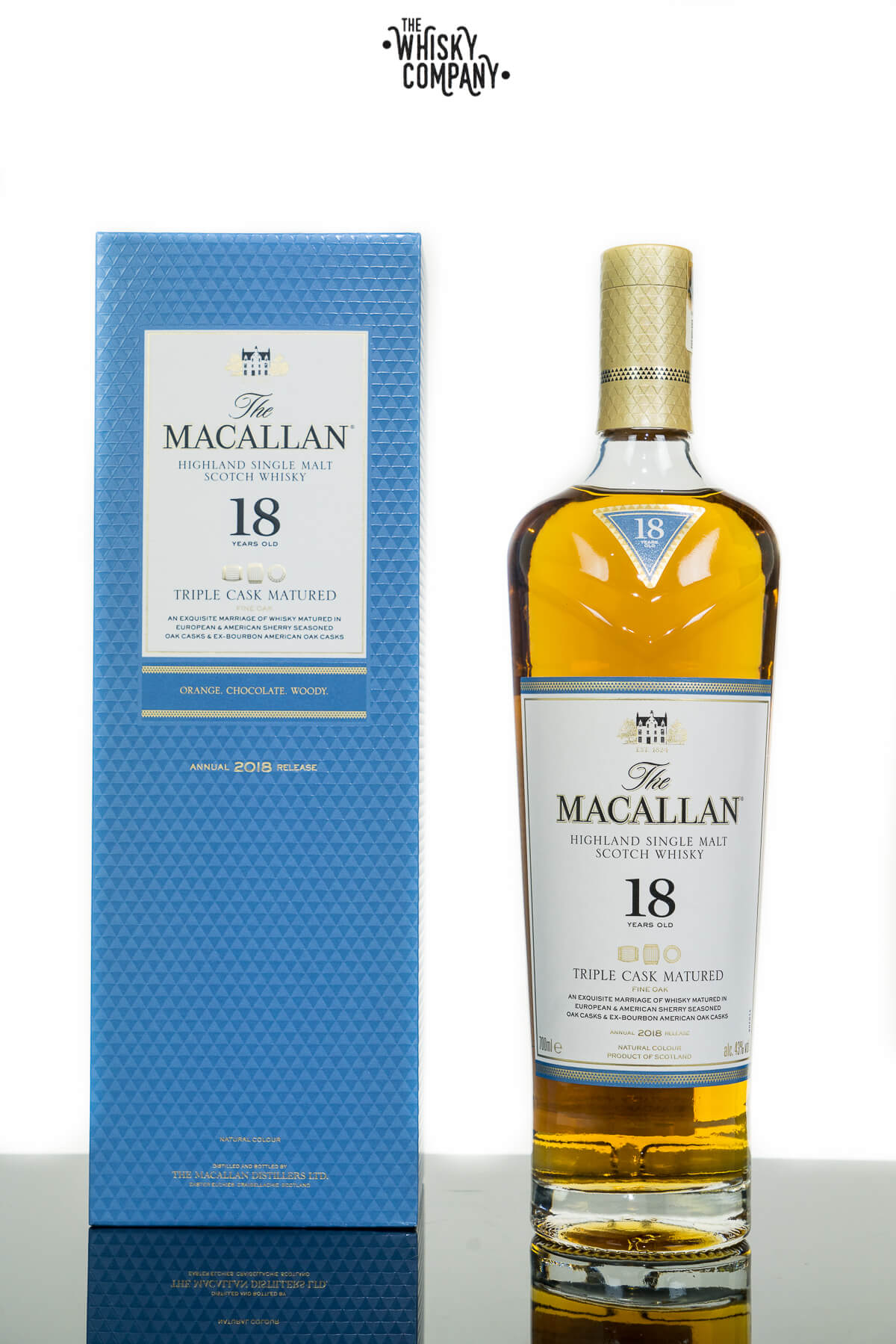The Macallan 18 Years Old Triple Cask Matured Single Malt Scotch Whisky (700ml)