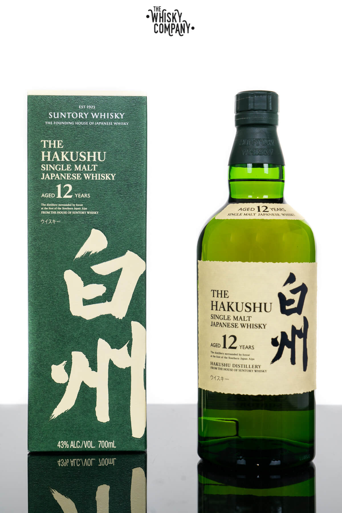 Hakushu Aged 12 Years Japanese Single Malt Whisky (700ml)