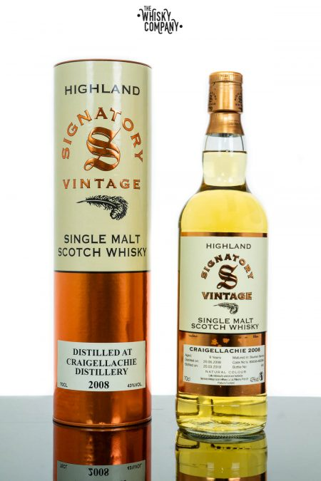 Craigellachie 2008 Aged 9 Years Single Malt Scotch Whisky - Signatory Vintage (700ml)