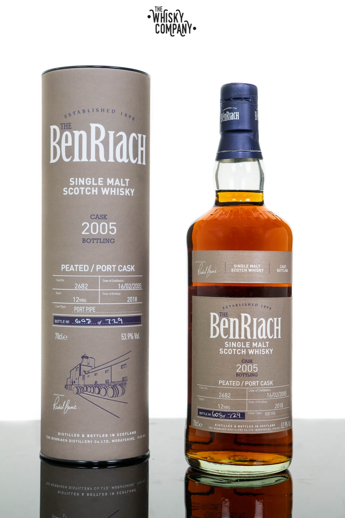 2005 The BenRiach 12 Years Old (Cask 2682) Single Cask Scotch Whisky (700ml)