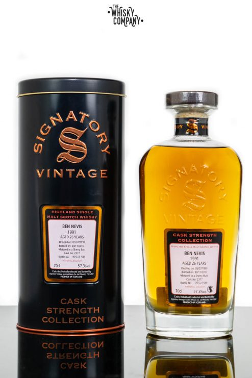 Ben Nevis 1991 Aged 26 Years Old (cask 2377) Single Malt Scotch Whisky - Signatory Vintage  (700ml)
