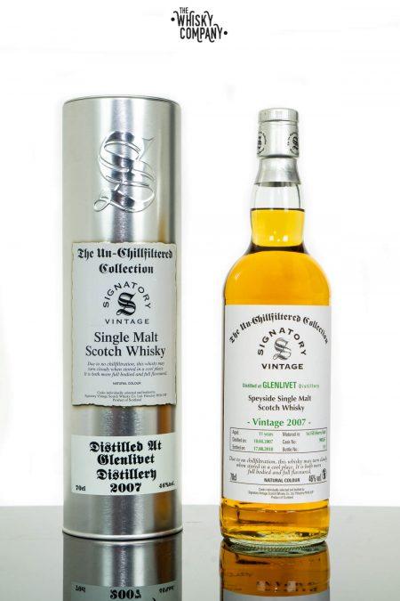 Glenlivet 2007 Aged 11 Years Single Malt Scotch Whisky - Signatory Vintage (700ml)