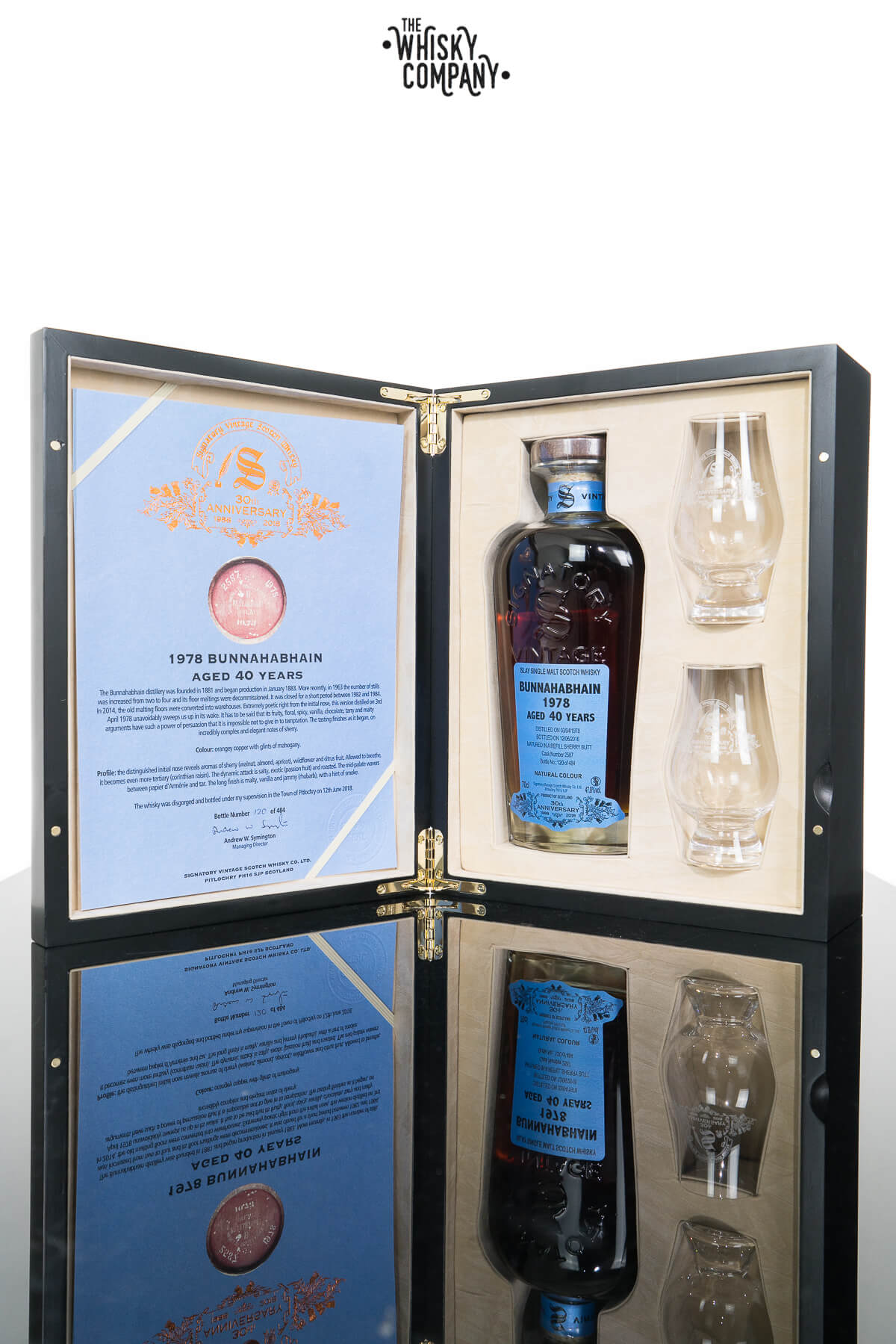 Bunnahabhain 1978 Aged 40 Years - Signatory Vintage 30th Anniversary (700ml)