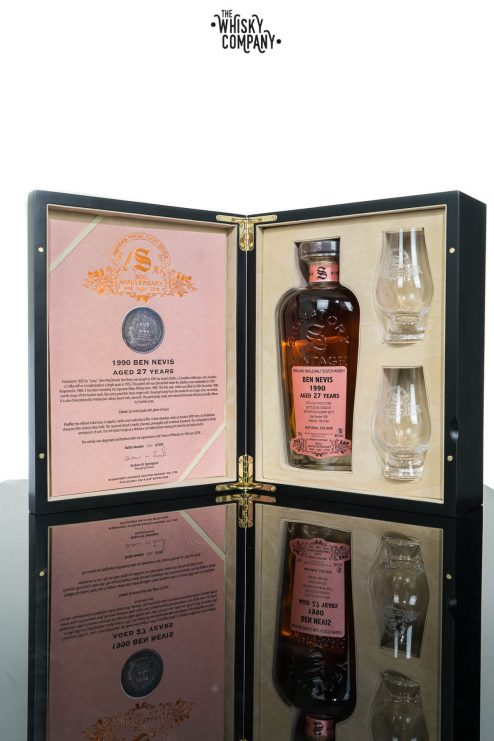 Ben Nevis 1990 Aged 27 Years (cask 1505) Single Malt Scotch Whisky - Signatory Vintage 30th Anniversary (700ml)
