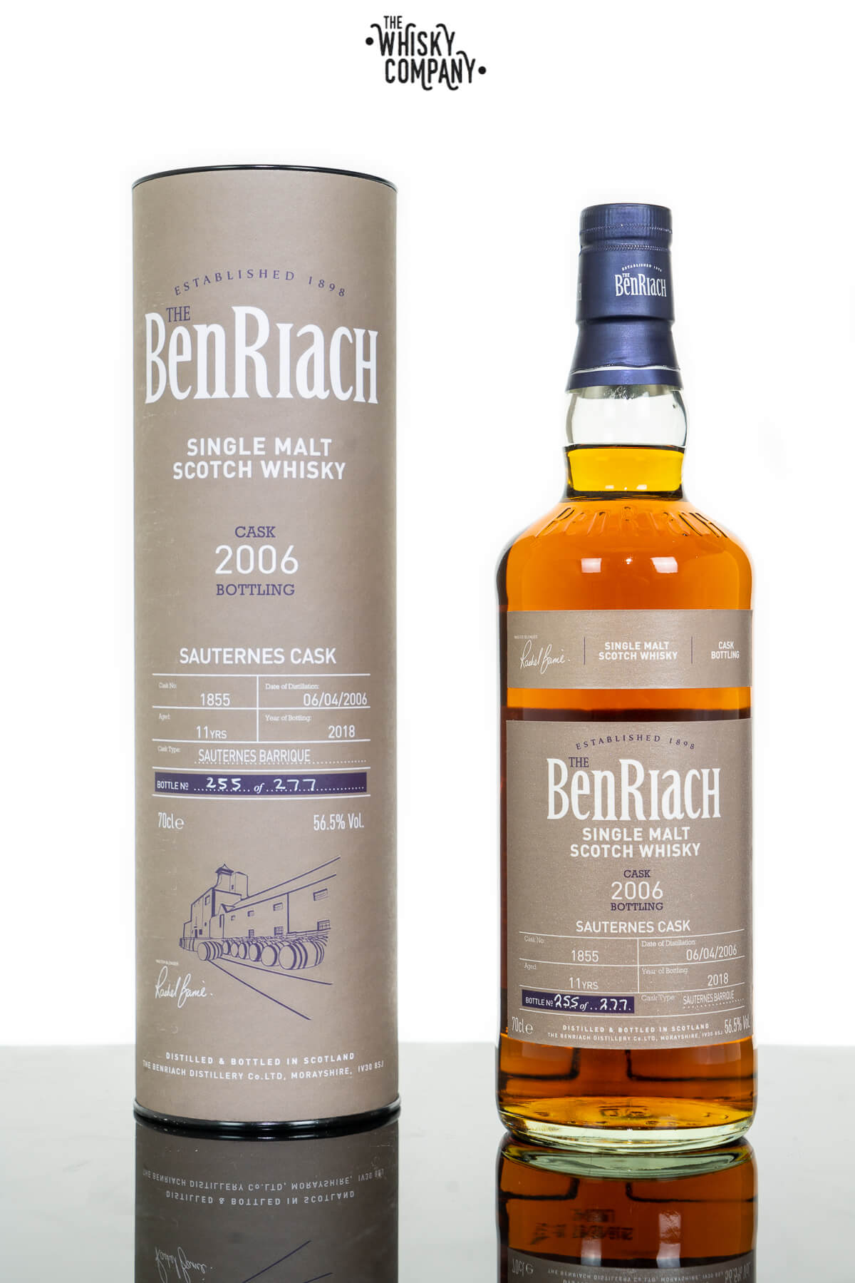 2006 The BenRiach 11 Years Old (Cask 1855) Single Cask Scotch Whisky (700ml)