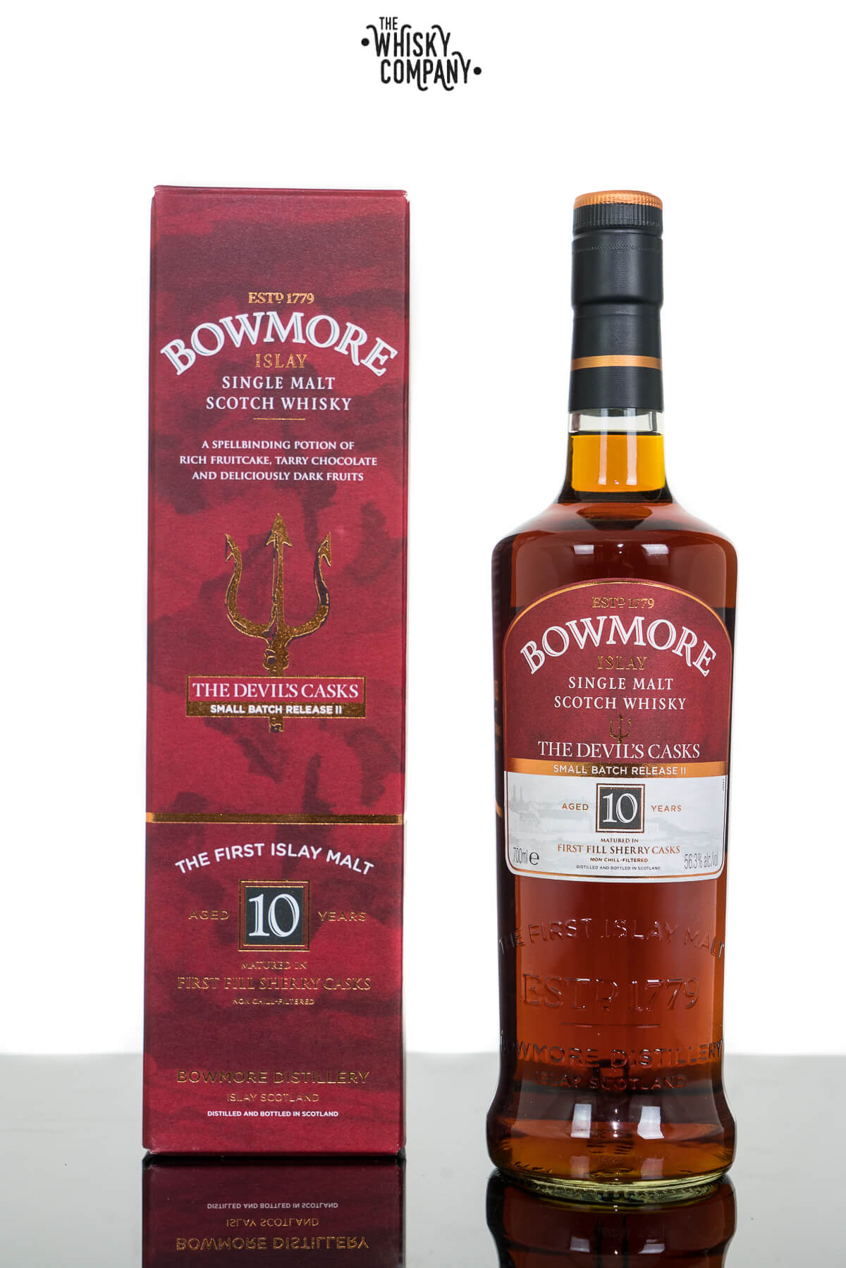 Bowmore 10 Years Old Devils Casks II Islay Single Malt Scotch Whisky (700ml)
