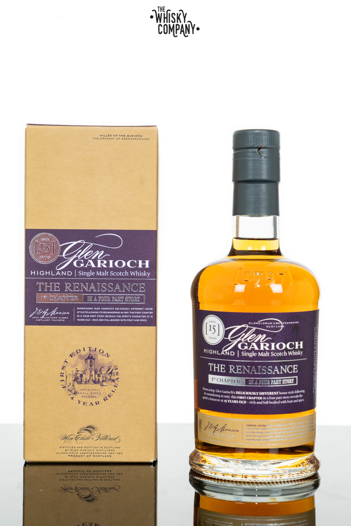 Glen Garioch 15 Years old The Renaissance Single Malt Scotch Whisky (700ml)