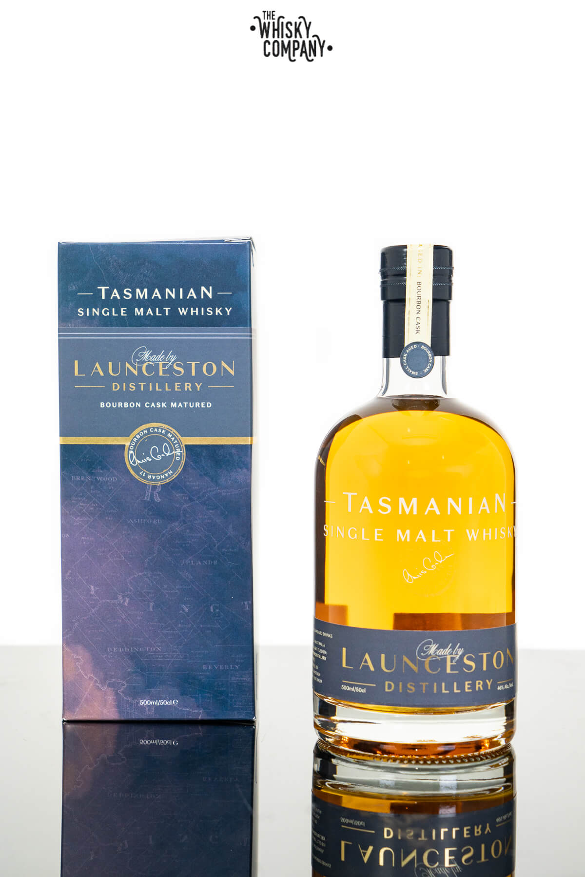 Launceston Bourbon Cask Matured Tasmanian Single Malt Whisky (500ml)