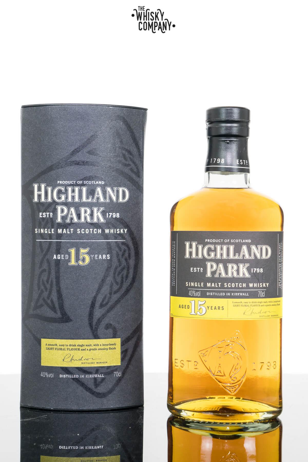 Highland Park Aged 15 Years Island Single Malt Scotch Whisky (700ml)