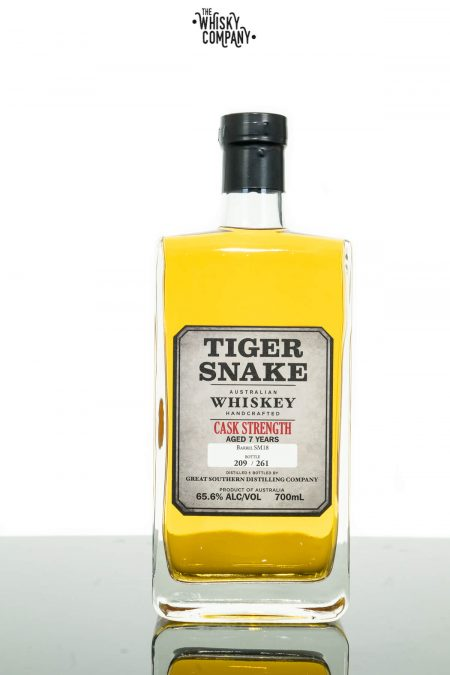 Tiger Snake Cask Strength Aged 7 Years Small Batch Australian Whiskey (700ml)