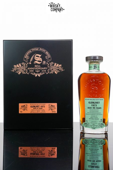 1973 Glenlivet Aged 45 Years Single Malt Scotch Whisky - Signatory Vintage 30th Anniversary (700ml)