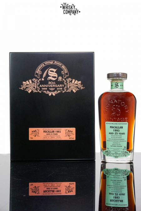 Macallan 1993 Aged 25 Years Single Malt Scotch Whisky - Signatory Vintage 30th Anniversary (700ml)