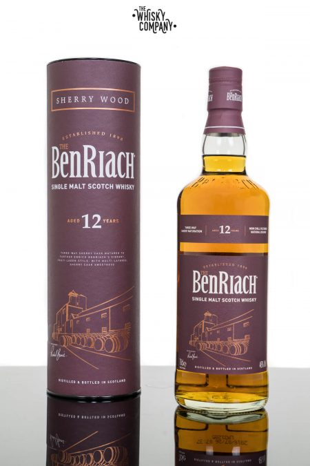 BenRiach Aged 12 Years Sherry Wood Finish Speyside Single Malt Scotch Whisky (700ml)