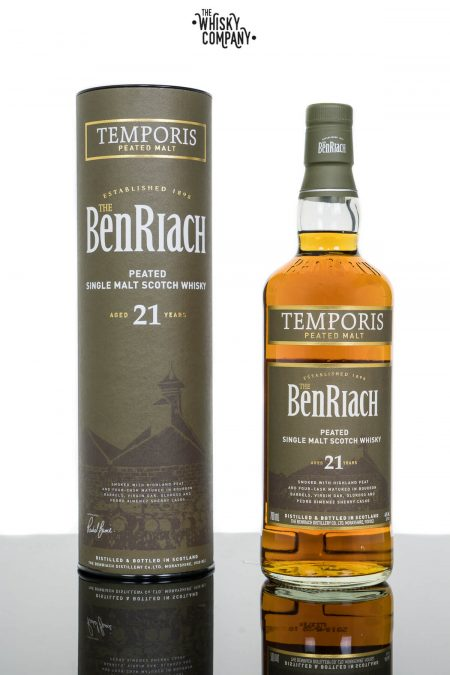 BenRiach Aged 21 Years Peated Temporis Speyside Single Malt Scotch Whisky (700ml)