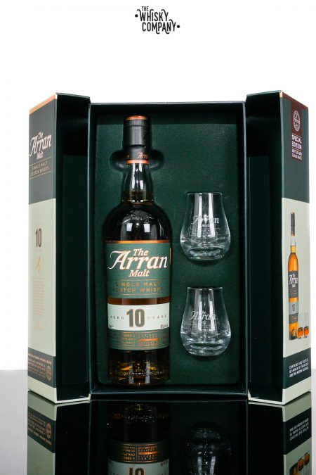 Arran Aged 10 Years Gift Pack Island Single Malt Scotch Whisky (700ml)
