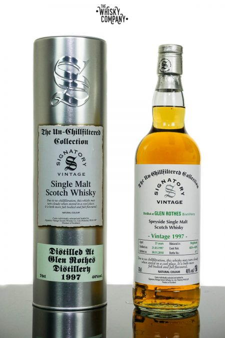 Glen Rothes 1997 Aged 21 Years Single Malt Scotch Whisky - Signatory Vintage (700ml)