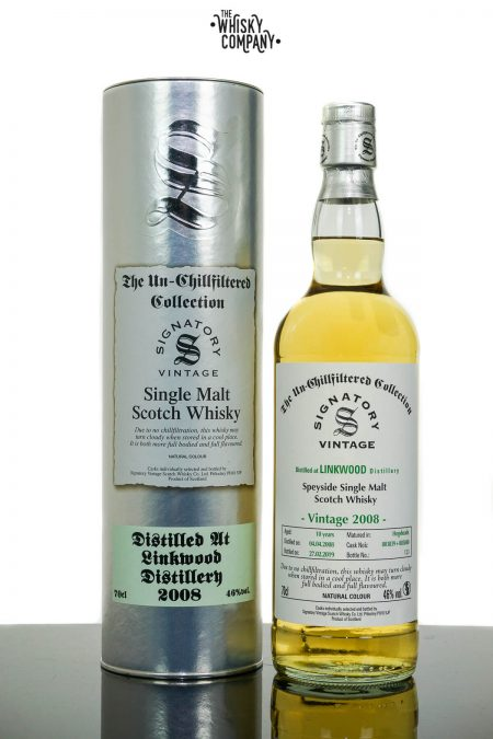 Linkwood 2008 Aged 10 Years Single Malt Scotch Whisky - Signatory Vintage (700ml)