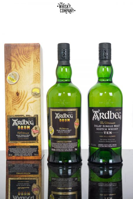 Ardbeg Drum Islay Single Malt Scotch Whisky PLUS Ardbeg 10 Years Old (2 x 700ml)