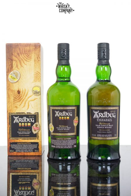 Ardbeg Drum Islay Single Malt Scotch Whisky PLUS Ardbeg Uigeadail (2 x 700ml)