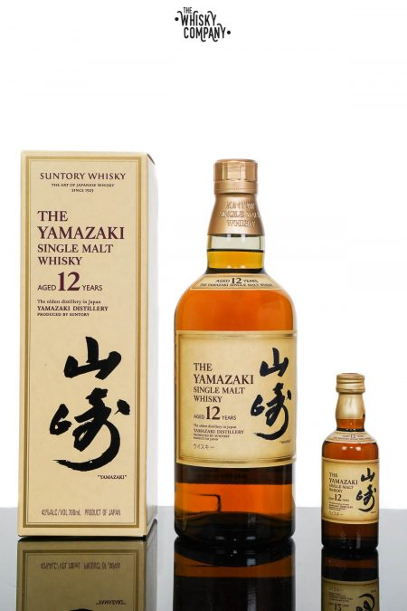 Yamazaki Aged 12 Years Japanese Single Malt Whisky With 50ml Miniature (700ml)