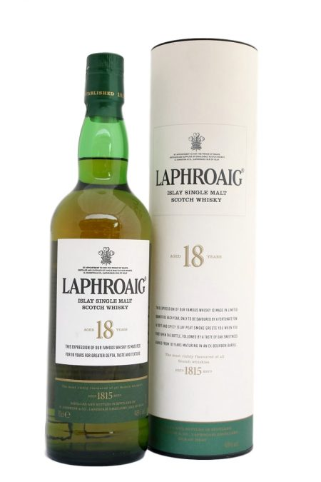 Laphroaig Aged 18 Years Limited Release Islay Single Malt Scotch Whisky (700ml)