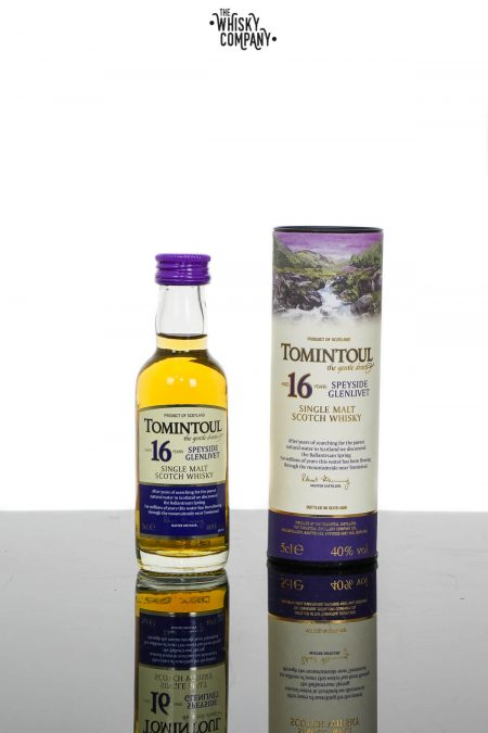 Tomintoul Aged 16 Years Speyside Single Malt Scotch Whisky (50ml)