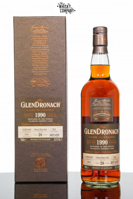 GlenDronach 1990 Aged 28 Years Single Malt Scotch Whisky - Cask 2623 (700ml)