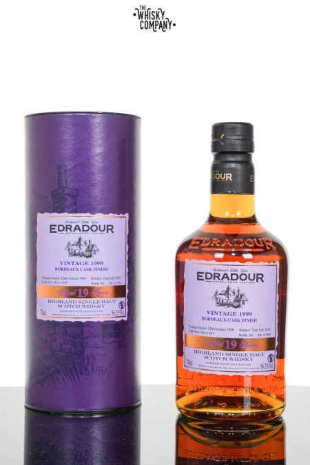Edradour 1999 Aged 19 Years Bordeaux Cask Finish Highland Single Malt Scotch Whisky (700ml)