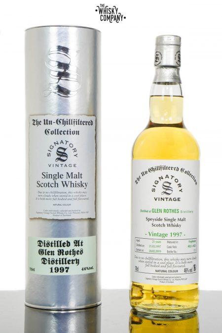 Glen Rothes 1997 Aged 21 Years UCF Speyside Single Malt Scotch Whisky - Signatory Vintage (700ml)