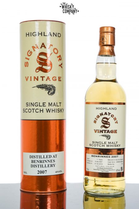 Benrinnes 2007 Aged 11 Years Speyside Single Malt Scotch Whisky - Signatory Vintage (700ml)
