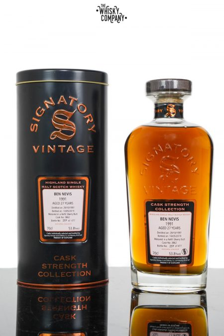Ben Nevis 1991 Aged 27 Years Single Malt Scotch Whisky - Signatory Vintage (700ml)