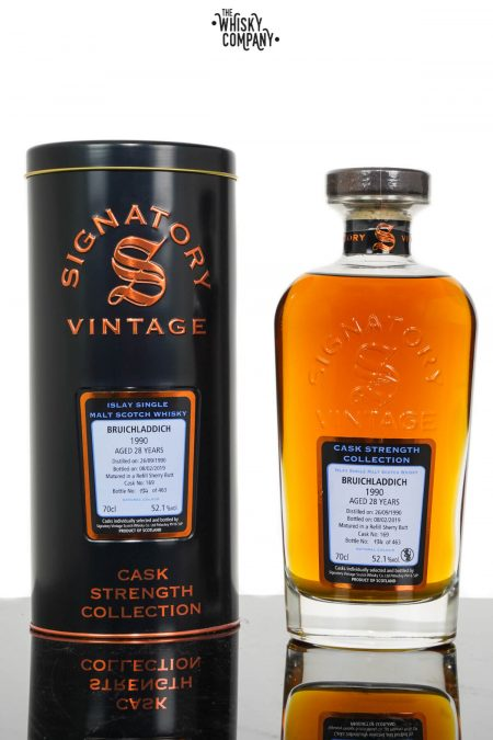 Bruichladdich 1990 Aged 28 Years Single Malt Scotch Whisky - Signatory Vintage (700ml)